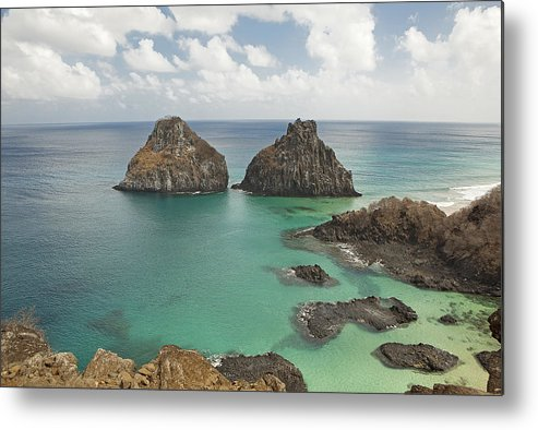 Horizontal Metal Print featuring the photograph Rock Formation In Fernando De Noronha by © Jackson Carvalho