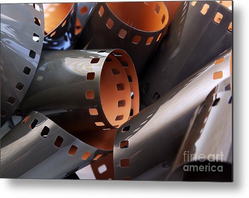 35mm Metal Print featuring the photograph Roll Of Film by Carlos Caetano