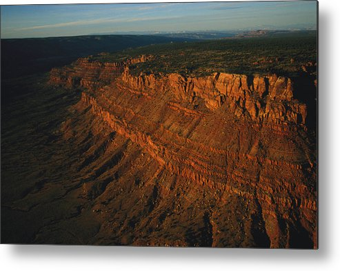 Sunlight Metal Print featuring the photograph Sandstone-capped Escarpment by Melissa Farlow
