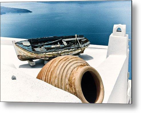 Greece Metal Print featuring the photograph Santorini Still Life by Scott Massey