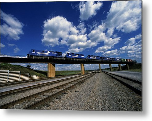 Trains Metal Print featuring the photograph Selkirk Flyover by Susan Benson