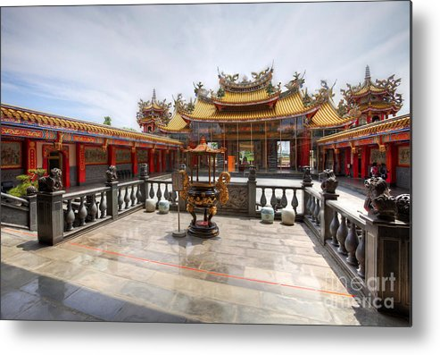 Hdr Metal Print featuring the photograph Taoist Temple 2 by Tad Kanazaki