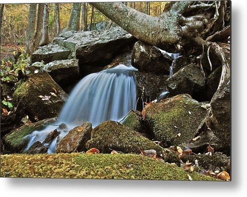 Autumn Metal Print featuring the photograph Tennessee Waterfall 5962 by Michael Peychich