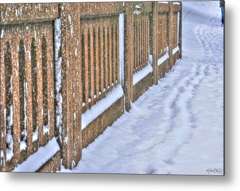 Metal Print featuring the photograph Tracks In The Snow by Michael Frank Jr