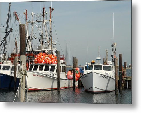 Commercial Fishing Boats Metal Print featuring the photograph Vessel 97 by Joyce StJames