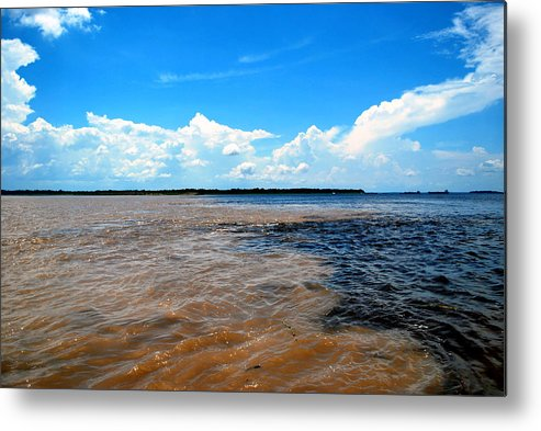 River Metal Print featuring the photograph When The Rivers Meet by Marcia Mello