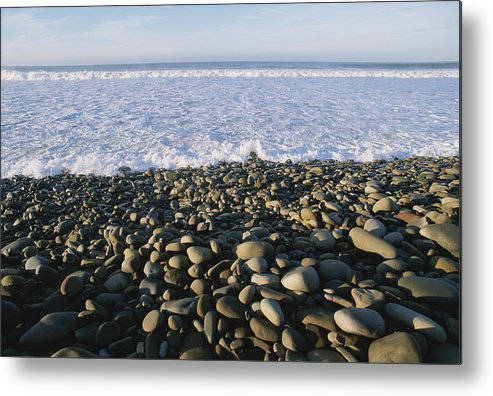 North America Metal Print featuring the photograph Whitewater From Crashing Waves Washes by Rich Reid