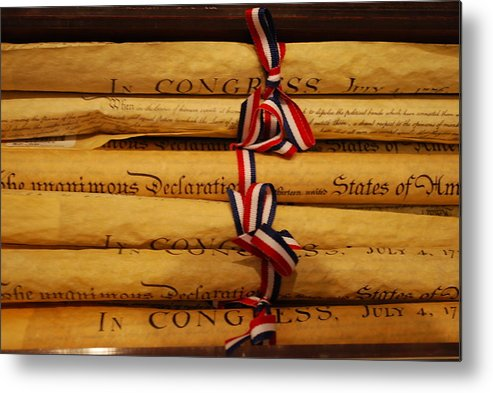 Document Metal Print featuring the photograph American History by Dorota Nowak