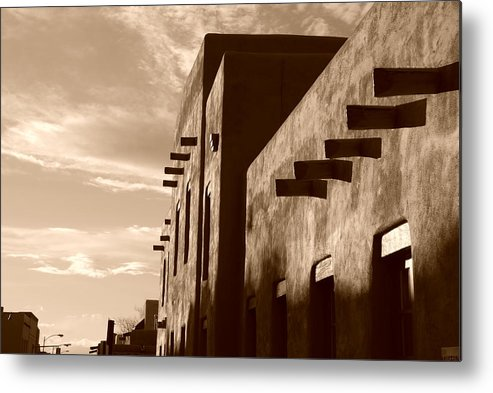 Architecture Metal Print featuring the photograph Adobe Sunset by Rob Hans