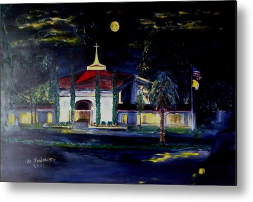 Saint Benedict Roman Catholic Church Gulf Coast Florida Usa Metal Print featuring the painting After The Storm by Alfred P Verhoeven