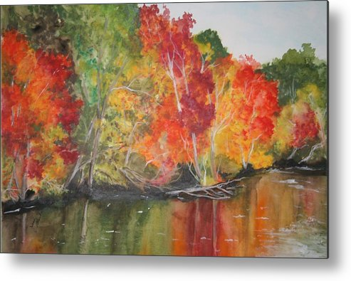 Autumn Metal Print featuring the painting Autumn Splendor by Jean Blackmer