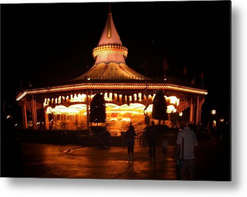 Carousel Metal Print featuring the photograph Carousel by Lindsay Clark