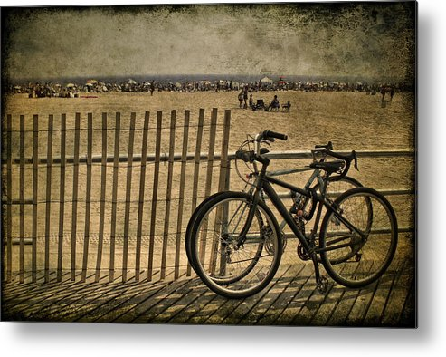 Fence Metal Print featuring the photograph Gone Swimming by Evelina Kremsdorf