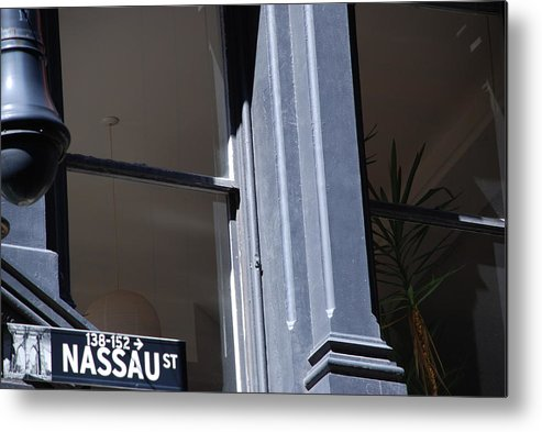 New York City Metal Print featuring the photograph Nassau Street by Rob Hans