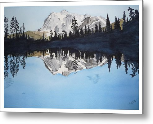 Reflection Lake Metal Print featuring the painting Reflection Lake by Joel Deutsch