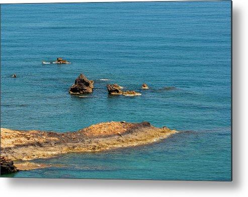 Landscape Photography Metal Print featuring the photograph Seascape 017 by Manolis Tsantakis