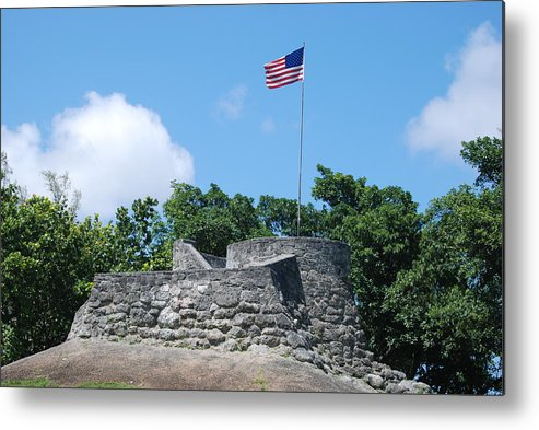 American Flag Metal Print featuring the photograph The Stand by Rob Hans