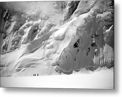Glacier Metal Print featuring the photograph Three Figures by Alasdair Turner