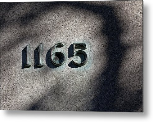 Number Metal Print featuring the photograph 1165 by Robert Ullmann