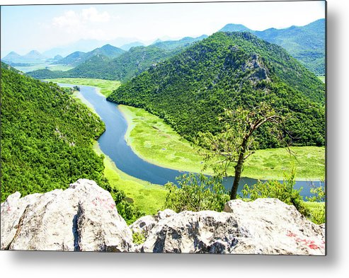 Crnojevic Metal Print featuring the photograph Crnojevic River, Montenegro by Ruth Hofshi