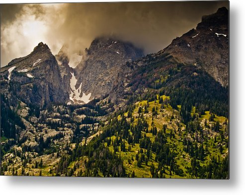 Wyoming Metal Print featuring the photograph Grand Tetons by Patrick Flynn