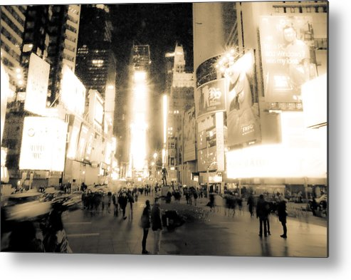 Times Square Metal Print featuring the photograph New York by Patrick Flynn