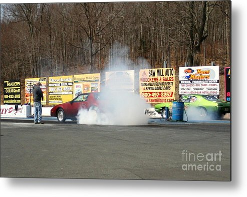 04-19-2015 Metal Print featuring the photograph 2529 04-19-2015 Lebanon Valley Dragway by Vicki Hopper