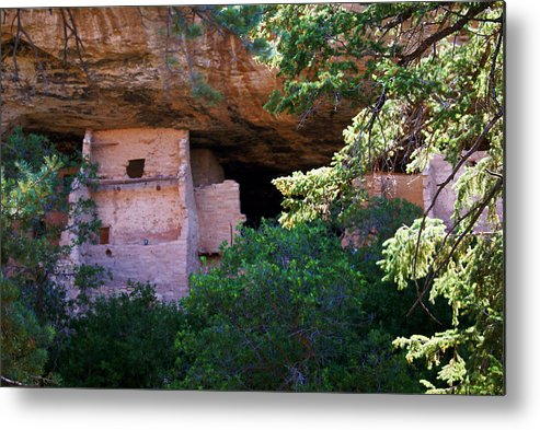 Landscape Metal Print featuring the photograph Spruce Tree House - Mesa Verde National Park by Glenn Smith