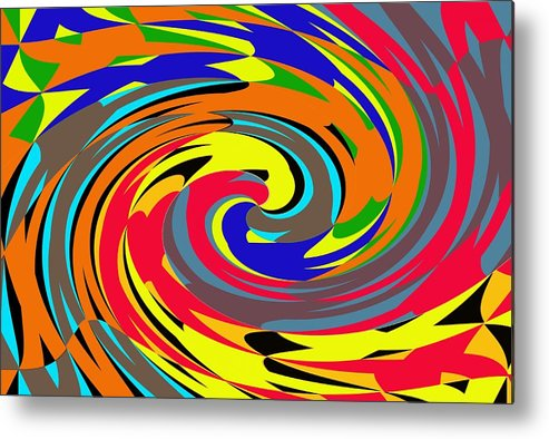 Abstract Metal Print featuring the digital art 4 U 13 by John Saunders