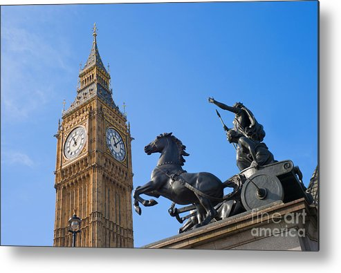 Print Metal Print featuring the painting London by Romeo Lombardi