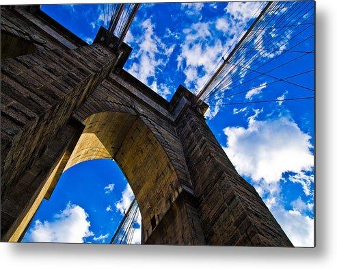 Bridge Metal Print featuring the photograph Brooklyn Bridge by Patrick Flynn