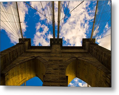 Bridge Metal Print featuring the photograph Brooklyn Bridge by Patrick Flynn