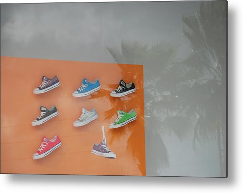 Orange Metal Print featuring the photograph 8 Sneakers by Rob Hans