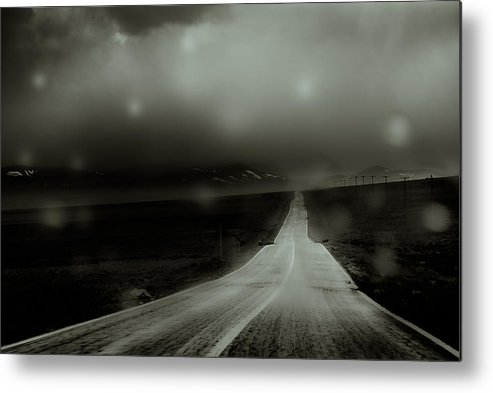 Road Metal Print featuring the photograph A Road To Perdition by Nima Moghimi