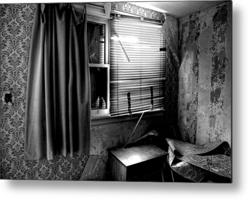 Abandoned Metal Print featuring the photograph Abandoned Motel Room by Jim Vance
