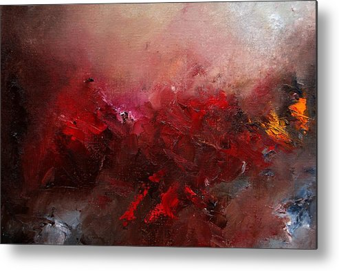 Abstract Metal Print featuring the painting Abstract 056 by Pol Ledent