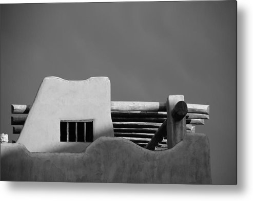 Architecture Metal Print featuring the photograph Adobe Turrett by Rob Hans