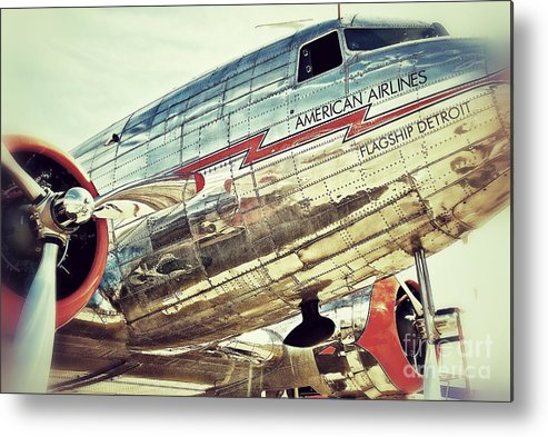 Original Metal Print featuring the photograph American Airlines by AK Photography