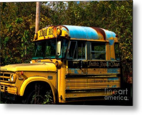 Bus Metal Print featuring the photograph Appalachian Repair Shop by Steven Digman