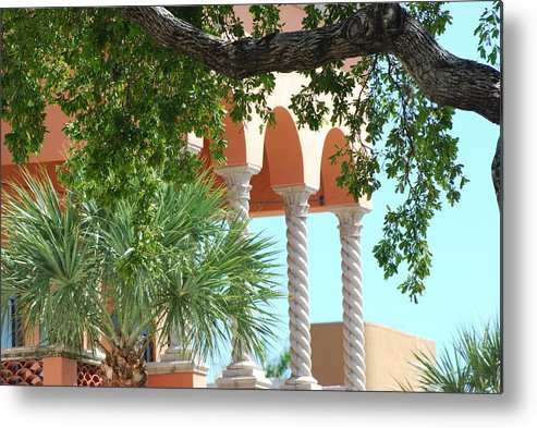 Architecture Metal Print featuring the photograph Arches Thru The Trees by Rob Hans