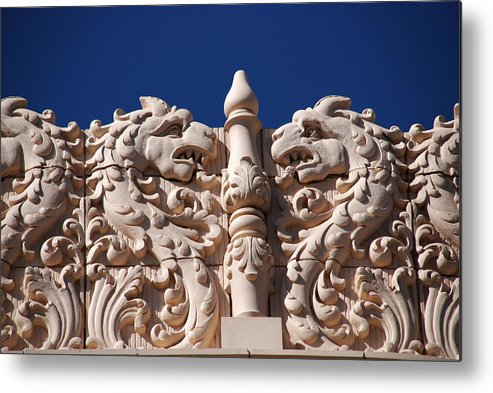Architectur In Santa Fe Metal Print featuring the photograph Architecture At The Lensic Theater In Santa Fe by Susanne Van Hulst