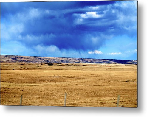 Plains Metal Print featuring the photograph Arising Storm Over Calgary by Andre Distel