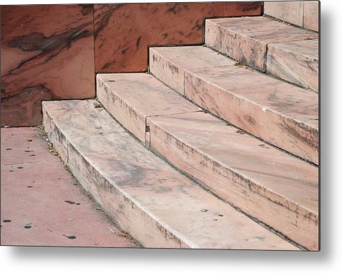 Architecture Metal Print featuring the photograph Art Deco Steps by Rob Hans