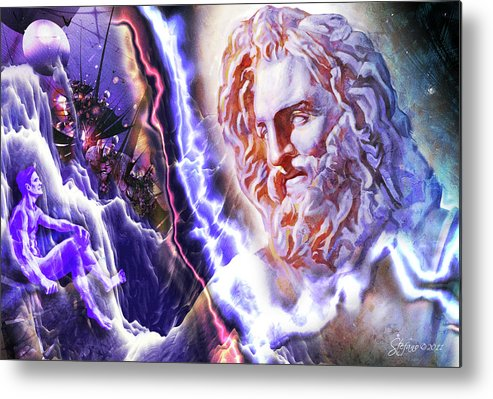 Art Metal Print featuring the digital art Astral Experience by Stefano Popovski