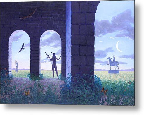 Landscape Metal Print featuring the painting At The Threshold by Jonathan Day