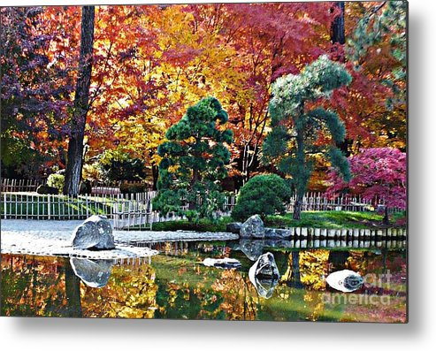 Autumn Metal Print featuring the photograph Autumn Glow In Manito Park by Carol Groenen