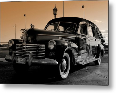 Classic Automobiles Metal Print featuring the photograph B Scared by Laura DAddona