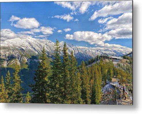 Sulphur Mountain Metal Print featuring the photograph Banff Gondola by Philip Kuntz