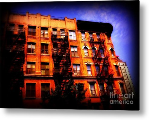 Orange Metal Print featuring the photograph Beautiful Architecture Of New York - Ship Of State by Miriam Danar