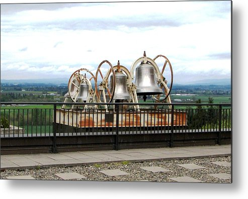 Bells Metal Print featuring the photograph Bells At The Abbey by Judyann Matthews